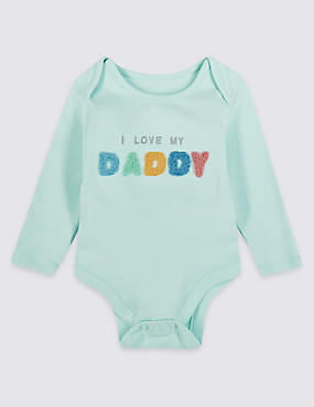 Pure Cotton I Love My Daddy Bodysuit