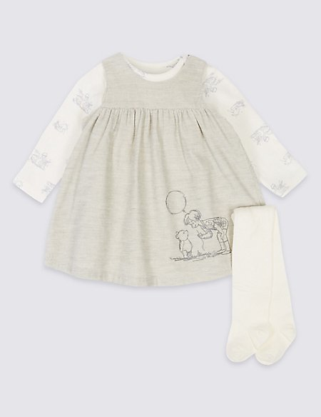 3 Piece Winnie the Pooh & Friends™ Dress & Bodysuit with Tights
