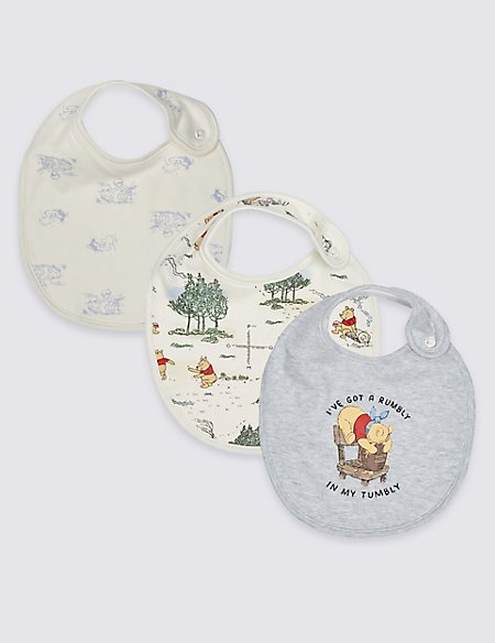 Winnie the Pooh & Friends™ 3 Pack Pure Cotton Bibs