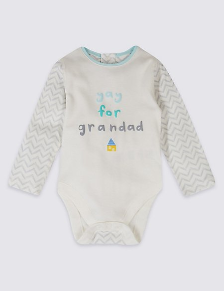 Printed Grandad Pure Cotton Bodysuit