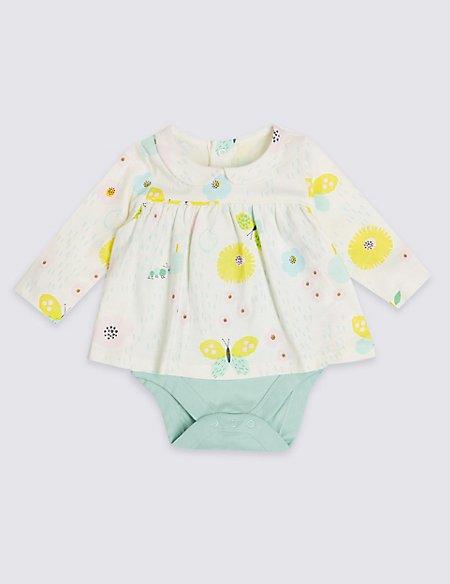 Pure Cotton Dress Bodysuit