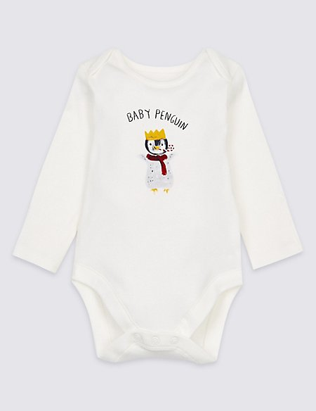 Pure Cotton Mini Me Penguin Bodysuit