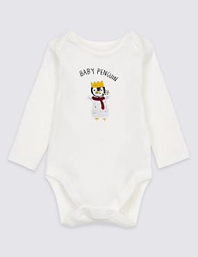 Pure Cotton Mini Me Penguin Bodysuit
