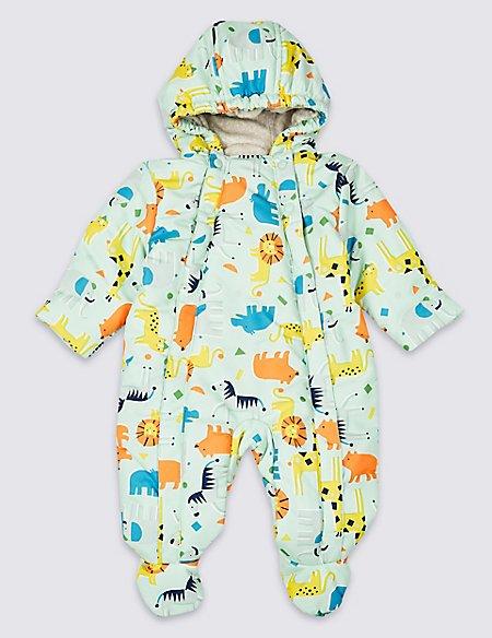All Over Animal Print Snowsuit