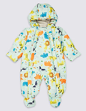 All Over Animal Print Snowsuit