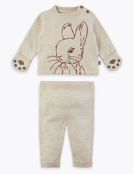 Peter Rabbit™ Knitted Top & Bottom Outfit