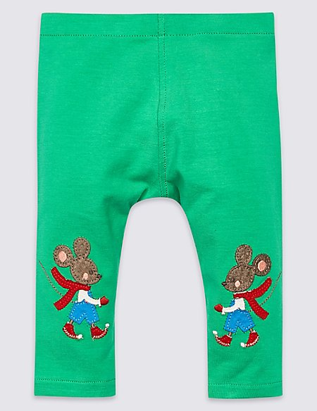 Cotton Rich Mouse Leggings with Stretch