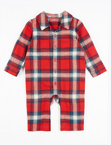 Checked Romper