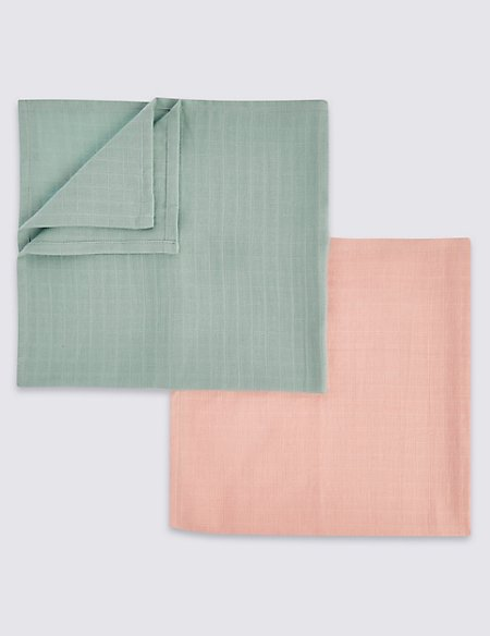 5 Pack Coloured Muslin Squares