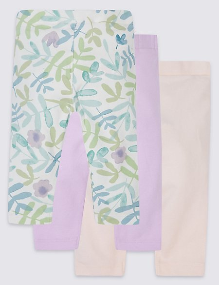Cotton Rich Printed Leggings with Stretch