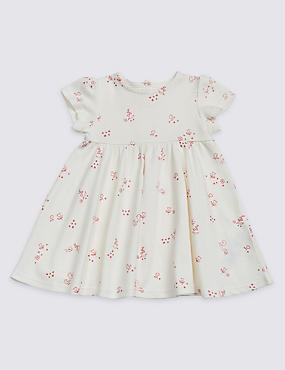 Printed Pure Cotton Jersey Dress