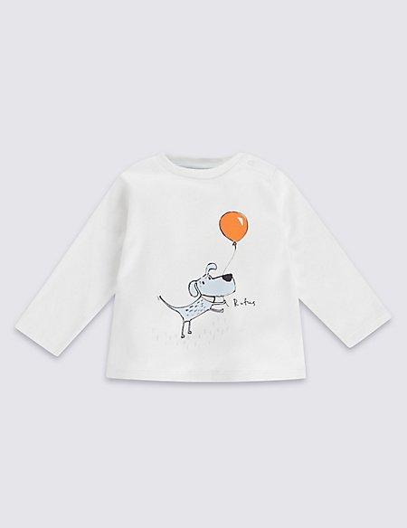 Pure Cotton Balloon Dog Print Top