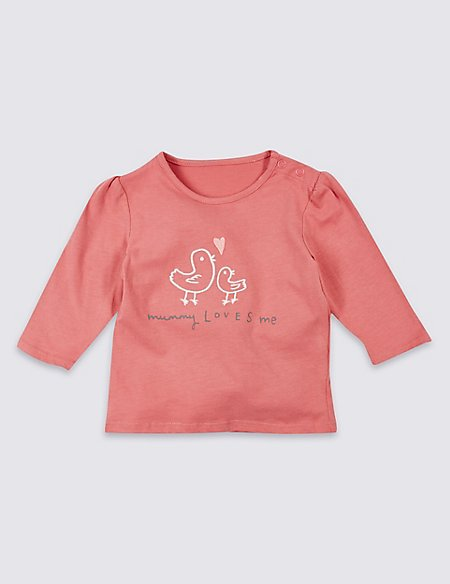 Mummy Loves Me Pure Cotton Top