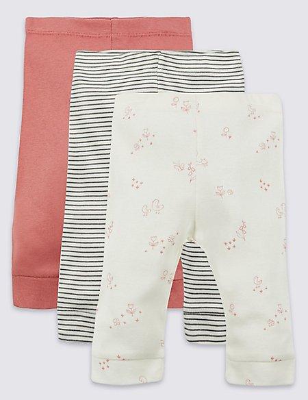 3 Pack Pure Cotton Leggings