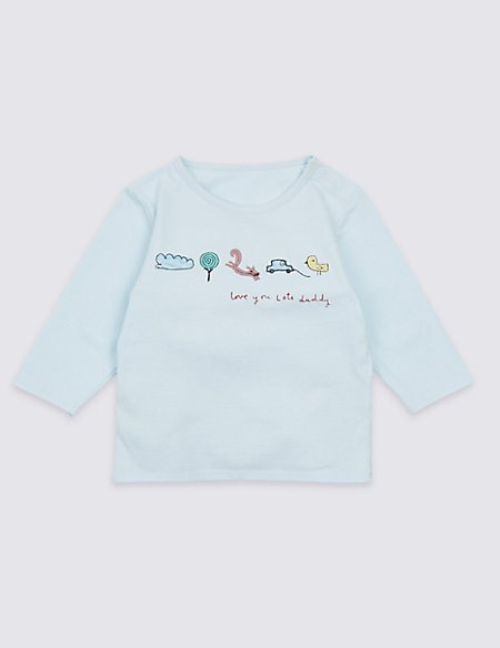 Love you Lots Daddy Embroidered Top