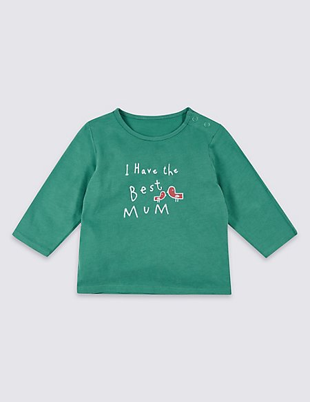 Best Mum Pure Cotton Printed Top