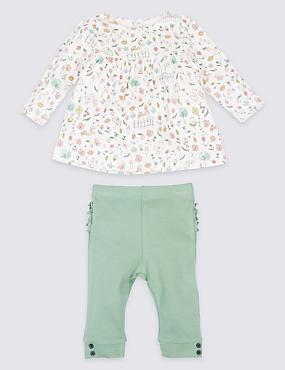 2 Piece Top & Leggings Ruffle Bum Outfit
