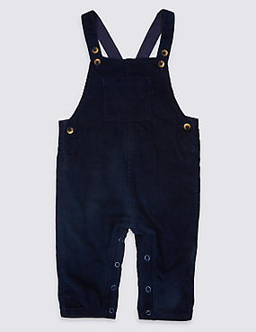 Pure Cotton Cord Dungarees