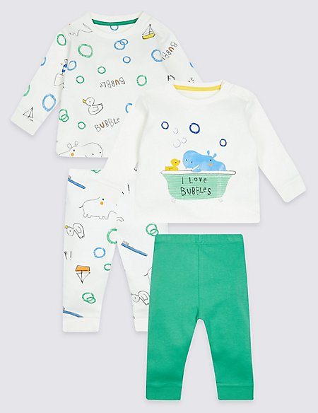 2 Pack Pure Cotton Top & Bottom Outfits