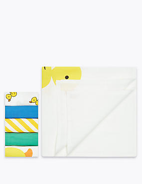 5 Pack Pure Cotton Muslin Squares