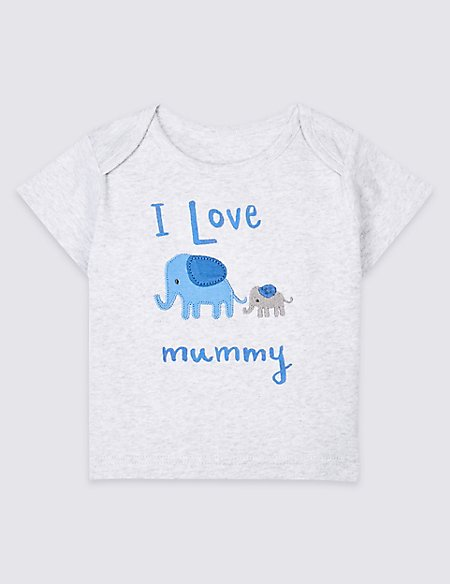Pure Cotton I Love Mummy Top