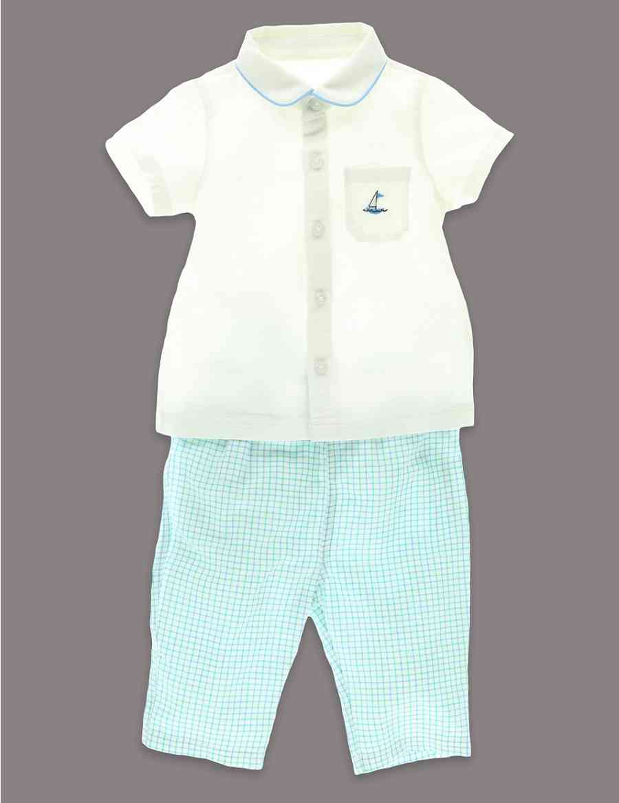 1d8a6fbafa 2 Piece Cotton Linen Shirt and Trousers Outfit