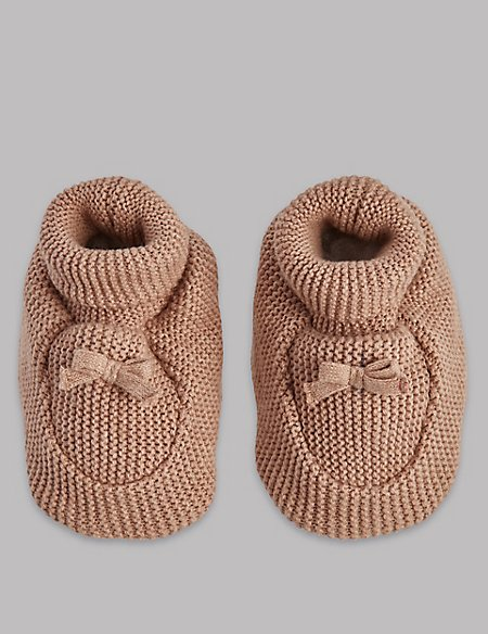 Pure Cotton Knitted Booties