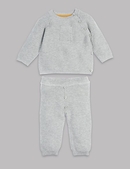 2 Piece Pure Cotton Knitted Outfit