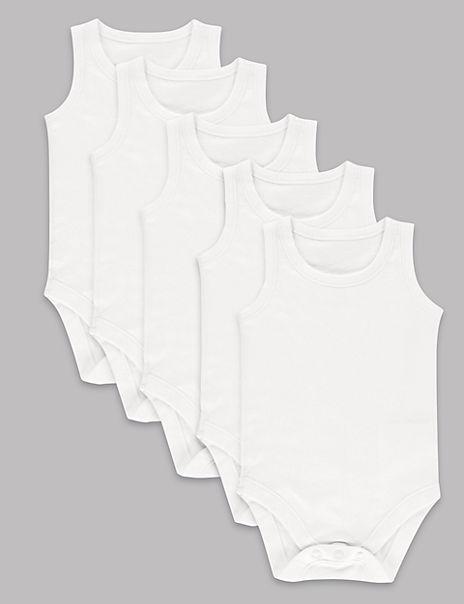 5 Pack Pure Cotton Bodysuits