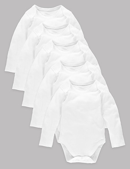 5 Pack Pure Superfine Cotton Bodysuits