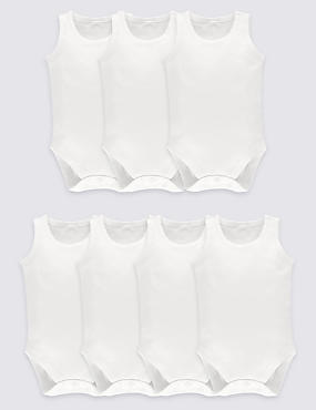 7 Pack Unisex Pure Cotton Bodysuits