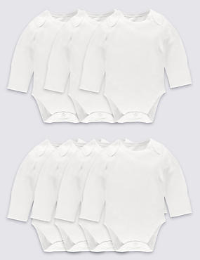 7 Pack Flat Seams Pure Cotton Bodysuits
