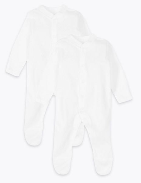 2 Pack Skin Kind™ Pure Cotton Sleepsuits