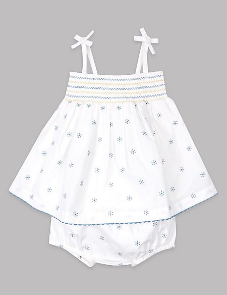 2 Piece Cotton Dress with Knickers Outfit