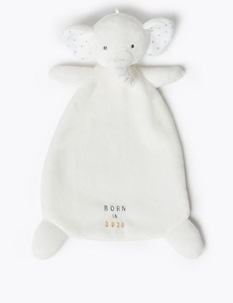Born in 2020 Embroidery Elephant Comforter