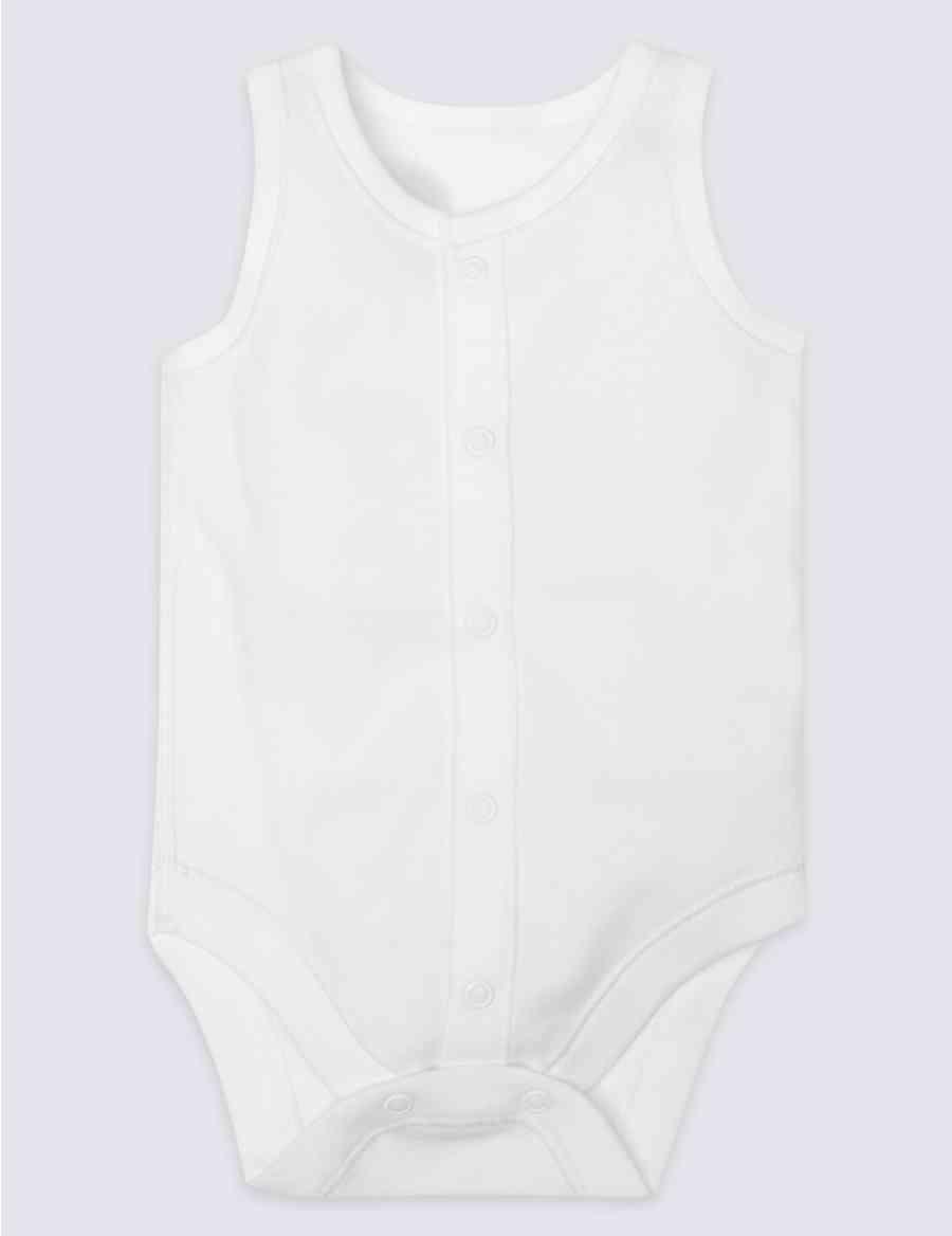 2de6b9bac53e Vertical Popper Sleeveless Bodysuit (0-3 Years)