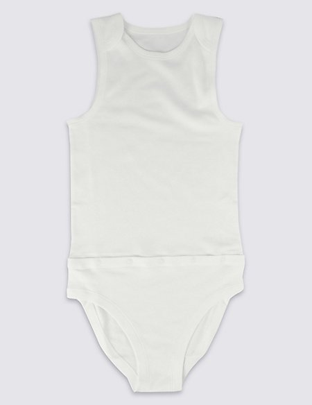 Unisex Pure Cotton Bodysuit (9-16 Years)