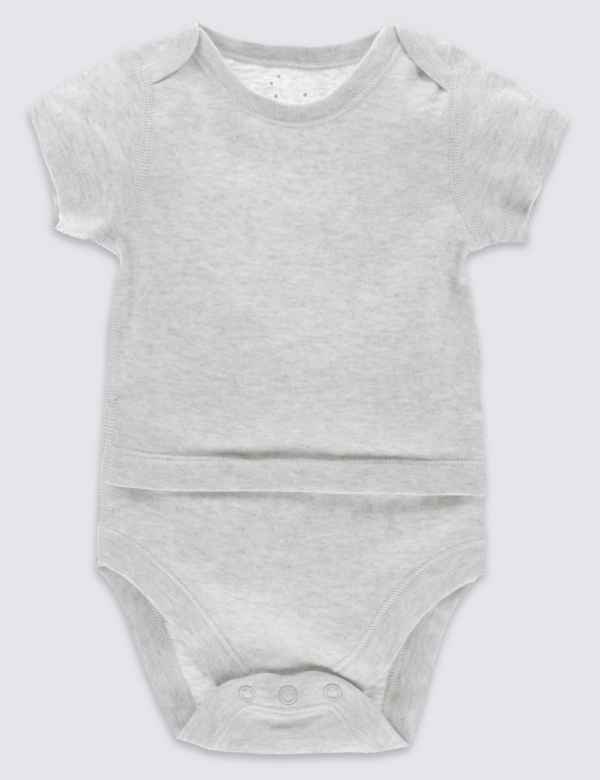 Easy Dressing Pure Cotton Bodysuit (0 Month - 3 Years) 695667224