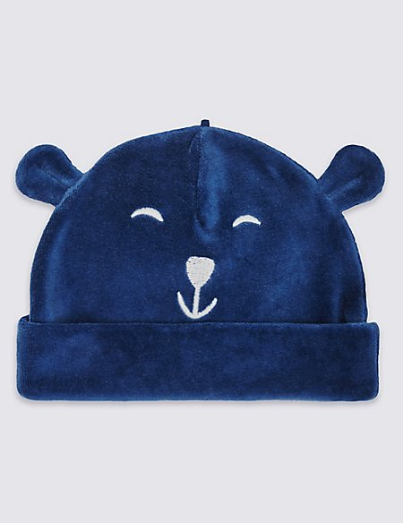 Cotton Rich Bear Velour Hat