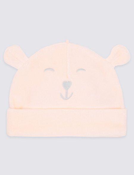 Cotton Rich Bear Velour Hat
