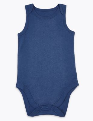 Body adapté en coton, facile à enfiler (du 3 au 16 ans) - Indigo