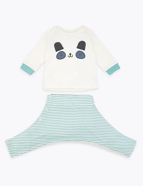 Hip Dysplasia Panda Top & Bottom Outfit