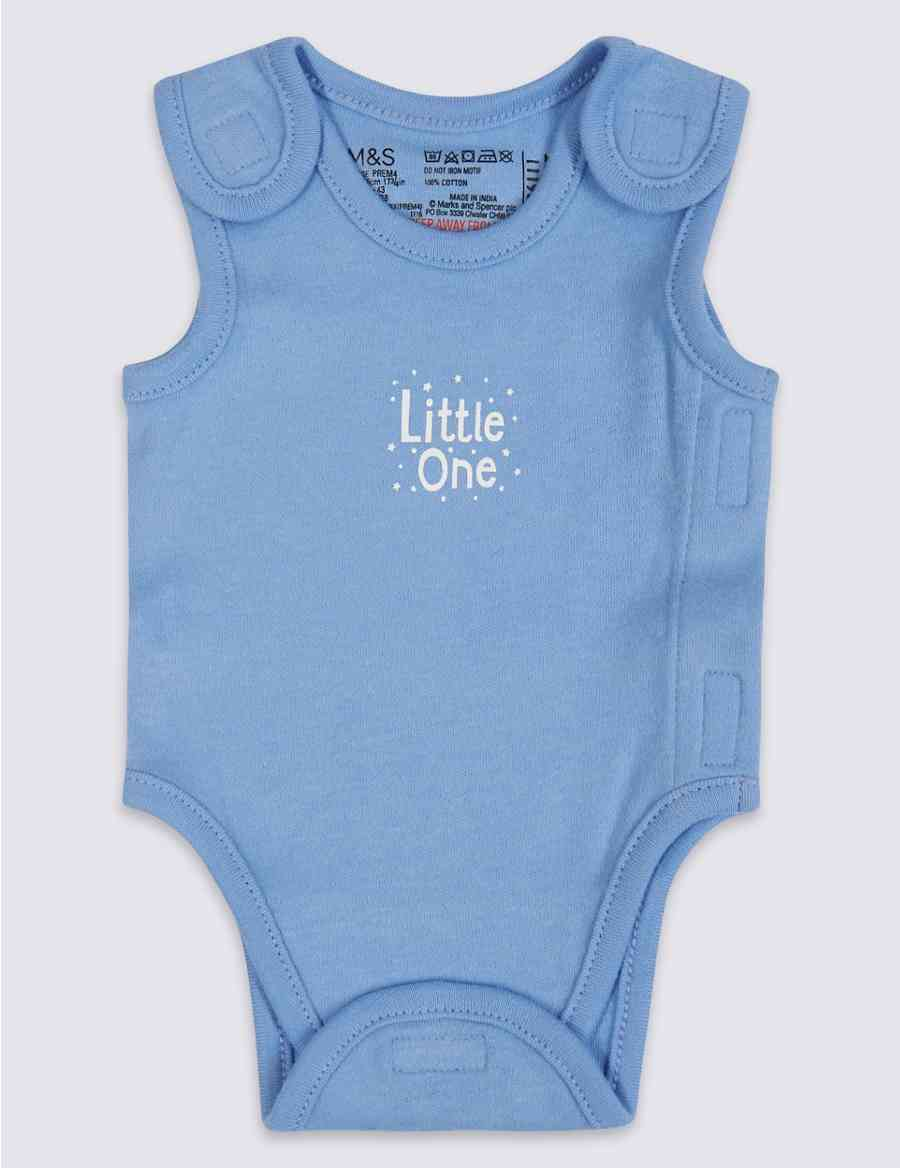 8d5968a3aaae 3 Pack Premature Pure Cotton Bodysuits