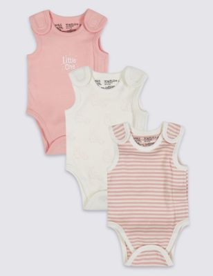 Easy Dressing 3 Pack Premature Pure Cotton Bodysuits