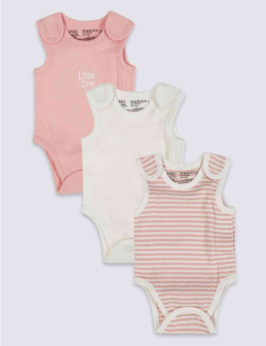 cf0c877655 3 Pack Premature Pure Cotton Bodysuits