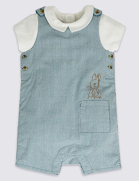 22c213f0d 2 Piece Peter Rabbit™ Bib Short & Bodysuit | M&S