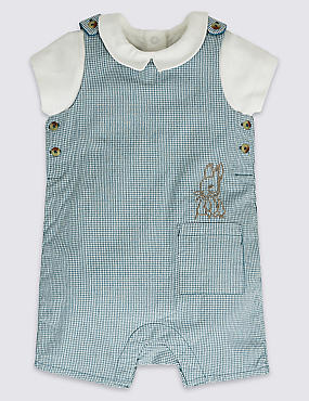 2 Piece Peter Rabbit™ Bib Short & Bodysuit