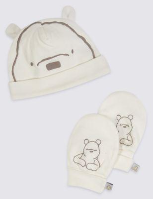 a9d976817bc Winnie The Pooh Hat   Mitten Set
