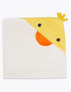 Cotton Rich Hooded Towel, WHITE MIX, catlanding