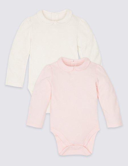 2 Pack Pure Cotton Bodysuits
